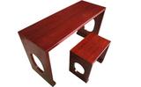 河北衡水国学琴桌 国学书画桌厂家 榆木国学古筝桌凳