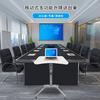 際慶科技演講臺升降講臺會議室講臺桌自動升降培訓桌多媒體互動講臺