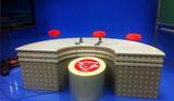 直播桌导播桌校园演播桌播音桌访谈桌中央电视台播音桌厂家