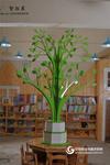 幼兒園大樹造型書架閱覽室中設計