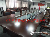 無紙化會議系統18.5寸超薄觸摸屏升降會議桌,技術成熟