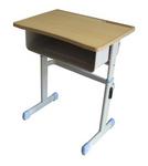 雙層斗單人鋼木課桌椅出售