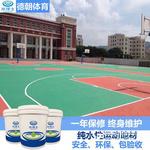 場地球場施工丙烯酸籃球場價格東莞德朝丙烯酸材料廠家