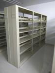 佛山阅览室专用图书架定做厂家佛山木侧板双面双柱书架简约书架定制厂家