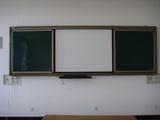 推拉绿板与电子白板
