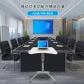 际庆科技演讲台升降讲台会议室讲台桌自动升降培训桌多媒体互动讲台