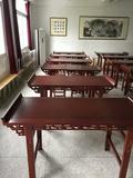 仿古實木國學課桌國學桌書法桌椅書畫桌美術桌