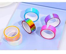 Alyssa艺术体操圈装饰带-霓虹色 炫彩 彩虹色胶带 diy