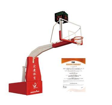 电动折叠篮球架