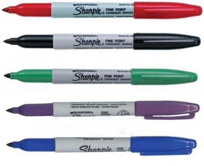 绿色单头记号笔