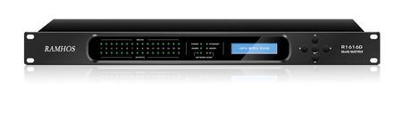 RAMHOS数字DSP音频处理器RDSP-1616D数字音频矩阵DANTE