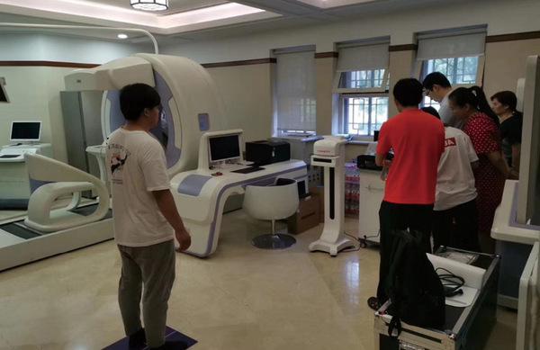 北京大学应用体态评估仪为师生做全身体态检测