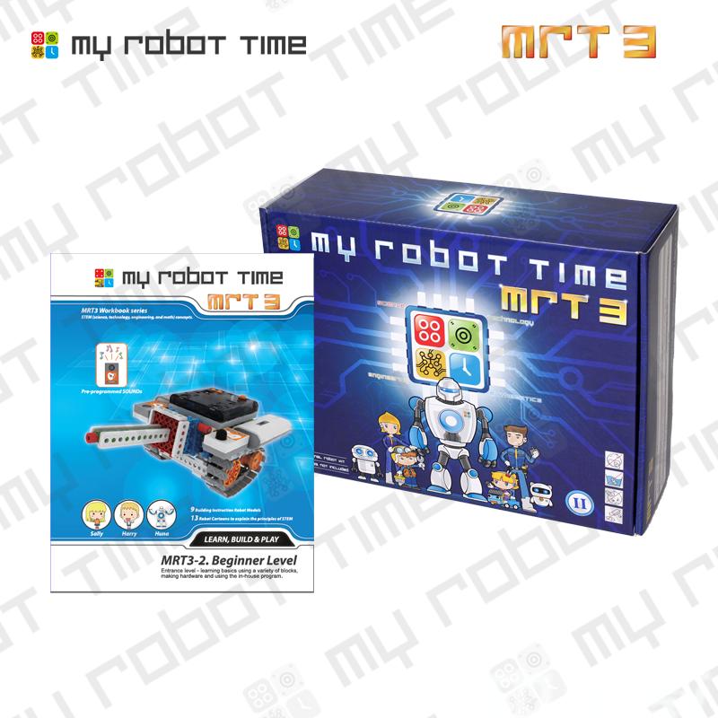韩端创客机器人/智能教育机器人/中小学生益智机器人教学MRT3-2儿童积木益智玩具