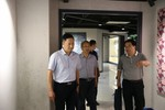 江苏省教育厅装勤中心沈本领一行调研通大附中教育技术装备工作