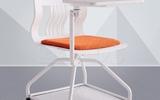 塑優培訓椅 360度旋轉可收木質寫字板 帶腳輪會議椅子 高檔海棉軟座聽課椅