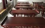 仿古实木国学课桌国学桌书法桌椅书画桌美术桌