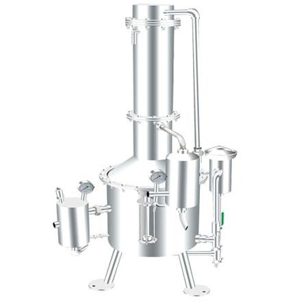 100升不锈钢塔式蒸汽重蒸馏水器